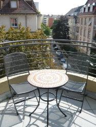 Blick vom Balkon einer Wohngemeinschaft für Menschen mit psychischen Erkrankungen; Quelle: Badischer Landesverein für Innere Mission